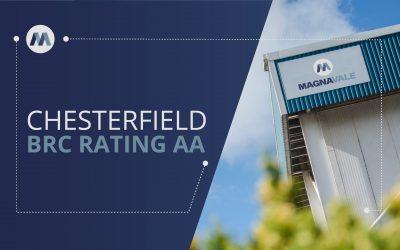Magnavale Chesterfield Achieve BRC AA Grade Certification